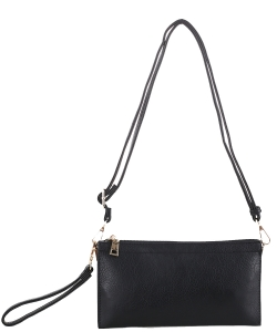 Multi compartment Wristlet Cross Body FC-19107 BLACK