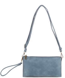 Multi compartment Wristlet Cross Body FC-19107 BLUE