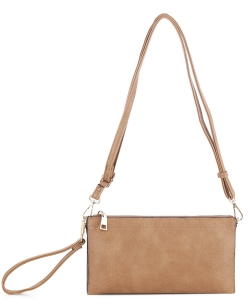 Multi compartment Wristlet Cross Body FC-19107 KHAKI