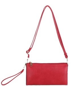 Multi compartment Wristlet Cross Body FC-19107 RED