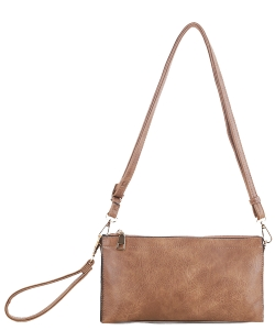 Multi compartment Wristlet Cross Body FC-19107 TAUPE