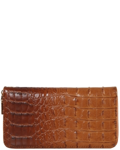 CROC Collection Vegan Leather Wallet Single Zip CY700