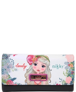Nikky by Nicole Lee Sophronia Wallet NK20375 FLOWERS  FLOWERS