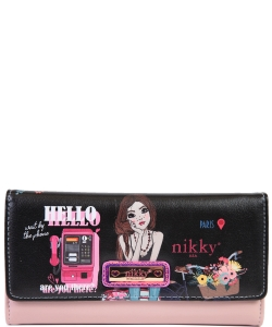 Nikky by Nicole Lee Sophronia Wallet NK20375 TRAVEL BLACK
