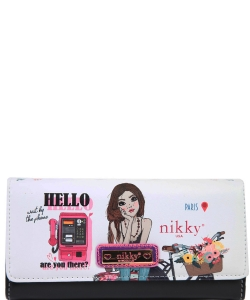 Nikky by Nicole Lee Sophronia Wallet NK20375 TRAVEL WHITE