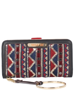 Nicole Lee Aztec Design Wallet P6540 PK