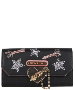 Nicole Lee Ivana Wallet STR6606 BLACK