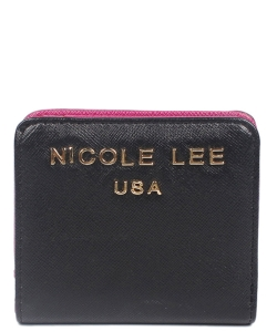 Nicole Lee Kyra Mini biFold Wallet P6118 BLACK