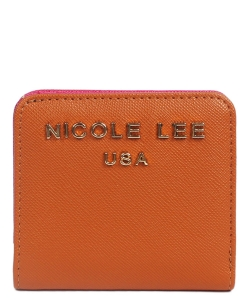 Nicole Lee Kyra Mini biFold Wallet P6118 BROWN
