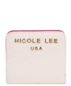 Nicole Lee Kyra Mini biFold Wallet P6118 WHITE