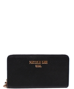 Nicole Lee Leigh Wallet with Cellphone Compartment P6144  BLACK