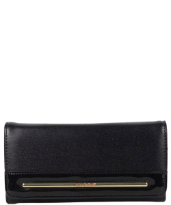 NL Fold Over Top Wallet P6414 BLACK