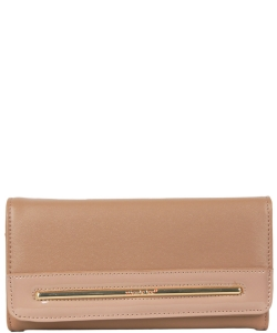NL Fold Over Top Wallet P6414 CAMEl