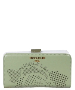 NL Heget Rose LaserCut Wallet P6424 GREEN