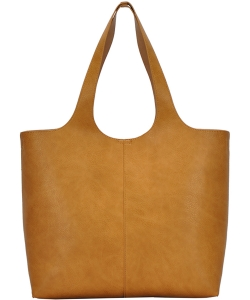 Fashion Faux Leather Tote Bag BGW81617 MUSTARD