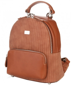 Hardware Accent Fashion Backpack 5829-2 COGNAC