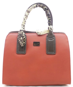 David Jones Tote handbag 5841-2 CARAMEL RED/PINK
