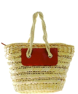 Straw Shoulder Bag Large Shopping Market Handbag Beach Picnic Women's Tote Basket
