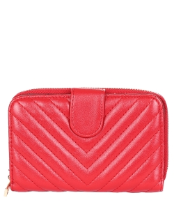 Fashion Zip Cardholder Wallet 6050 RED