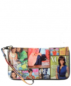 Michelle Obama Magazine wallet 6106 MULTI