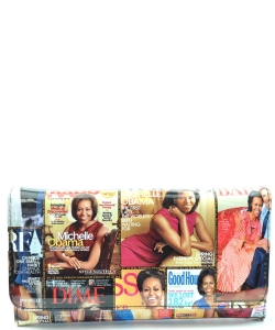 Michelle Obama Magazine Flap wallet  6107 MULTI