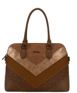 David Jones Satchel HandBag 6149-4  COGNAC