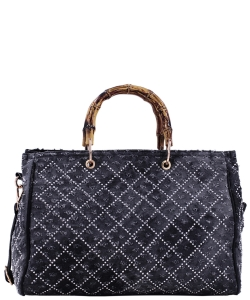 Denim Vegan handbag 61863 39334 BLACK