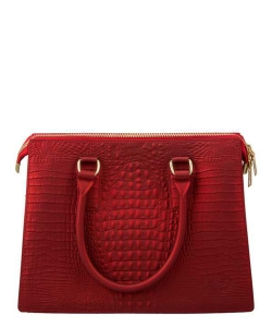Crocodile Texture Jelly Shoulder Bag 6197 RED