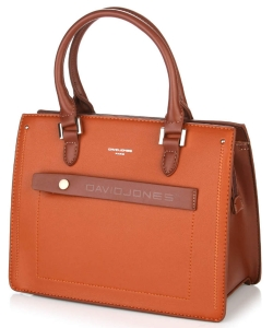 David Jones Satchel Handbag 6247-3 COGNAC
