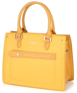 David Jones Satchel Handbag 6247-3 YELLOW