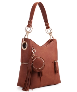 Fashion Bucket satchel 62757 BROWN