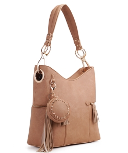 Fashion Bucket satchel 62757 TAN