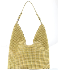 Crystal Rhinestones Hobo Bag 6457 GOLD