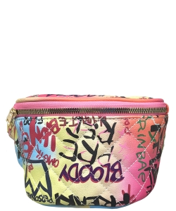 Graffiti Print Fanny Pack 6538 A