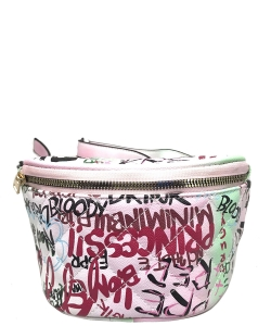 Graffiti Print Fanny Pack 6538 B