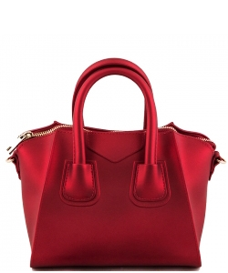 Shimmery Jelly Convertible Hand Bag 7009 RED