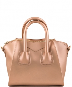 Shimmery Jelly Convertible Hand Bag 7009 ROSEGOLD