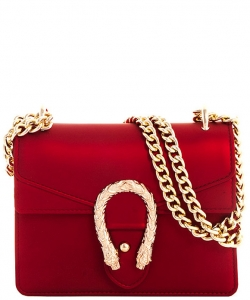 Fashion Chic Snake Buckle Jelly Crossbody Bag 7016 RED