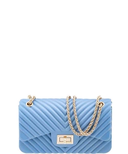 Trendy Jelly Crossbody Bag 7042 LIGHT BLUE