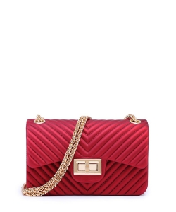 V Pattern Jelly Small Crossbody Bag 7043 WINE