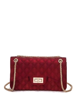 Cute Trendy Soft Jelly Cross body Bag 7046 RED