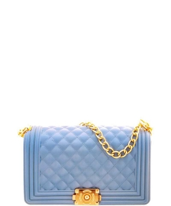 Jelly Classic Shoulder Bag 7048 LBLUE