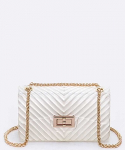 Chevron Embossed Large Jelly Bag 7062 Clear