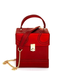 Fashion Jelly Clear Mini Bag 7066  Red