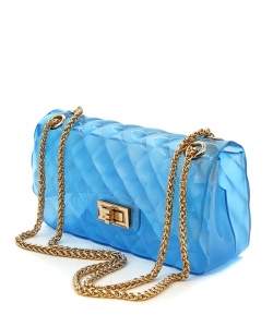 Quilted Jelly Mini Crossbody 7083 BLUE
