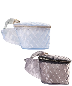 6 Pieces PVC Semi Transparent Fanny Pack