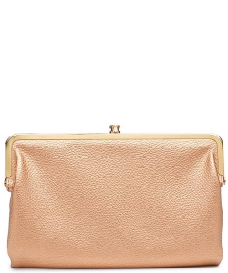 Urban Expressions Faux Leather Wallet Sandra Metal hardware Complements Classic Style 7287A-UR  ROSEGOLD