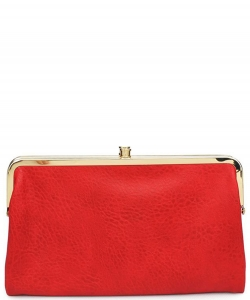 Urban Expressions Faux Leather Wallet Sandra Metal hardware Complements Classic Style 7287A-UR  SCARLET