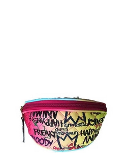 Graffiti Print Fanny Pack 8006 A