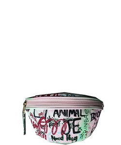 Graffiti Print Fanny Pack 8006 B
